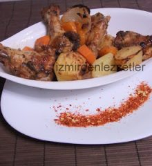 Fırıda Sebzeli Tavuk