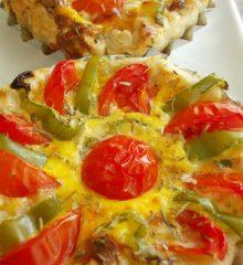 Peynir, Domates ve Biberli Milföy Çanakları