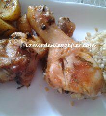 Fırında Taze Patatesli Tavuk