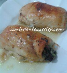 Fırında Ispanaklı Tavuk Rulo