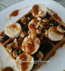 Karamel Soslu Waffle
