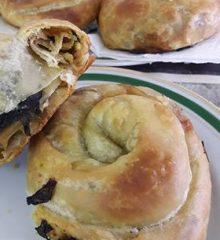 Pırasalı Ispanaklı El Açması Börek